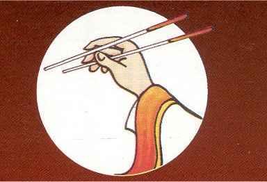 Comment manger avec des baguettes chinoises d coration - Comment tenir des baguettes chinoises ...