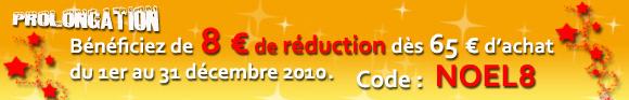 Code de réduction sur www.lachineuse.com pour Noël 2010