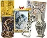 Grand miroir egyptien noir et dore la chineuse for Miroir egyptien