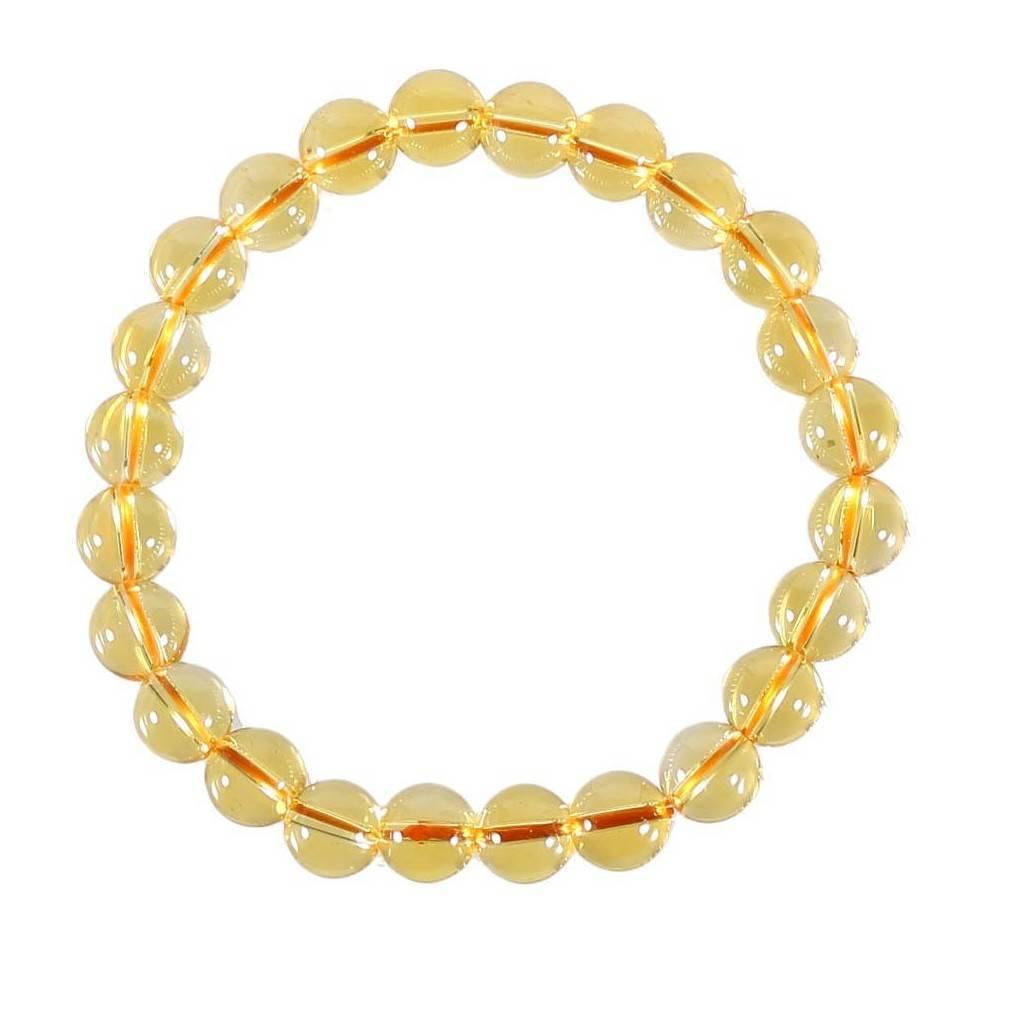 Bracelet perles de citrine, pierre de Succès et Prospérité