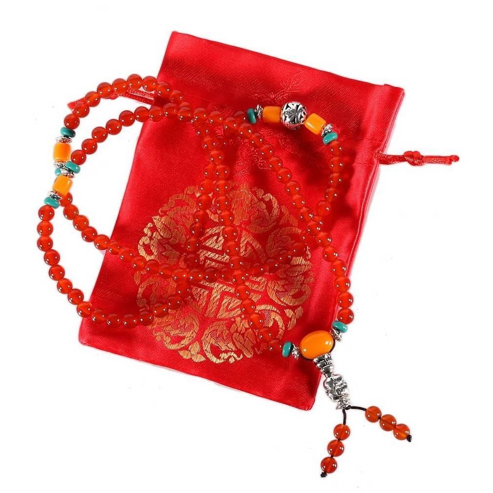Bracelet Mala bouddhiste en agate naturelle