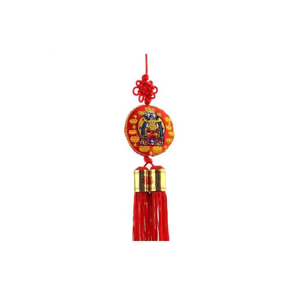 porte bonheur feng shui illustrant le dieu de la richesse caishen. Black Bedroom Furniture Sets. Home Design Ideas