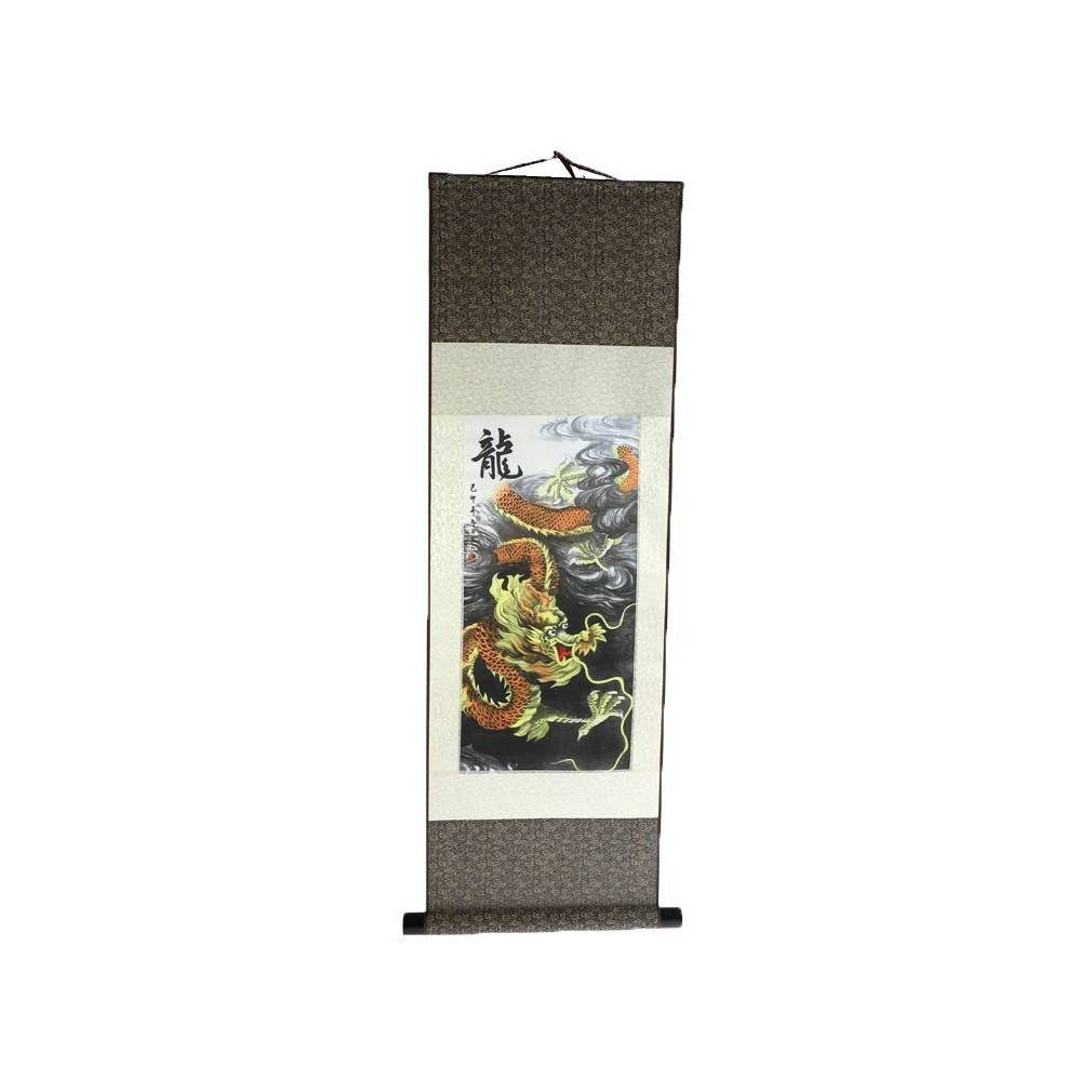 kakemono dragon céleste impérial impression sur soie