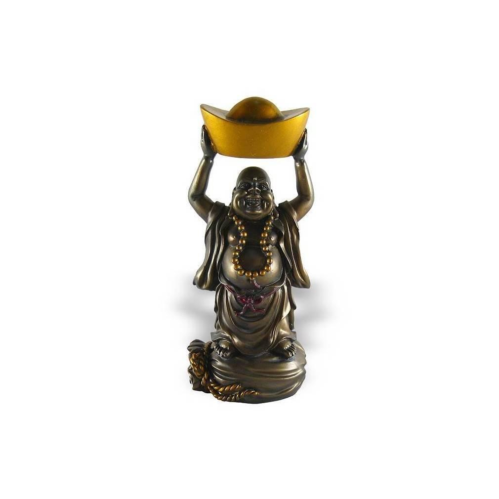 statuette bouddha rieur porte bonheur chance et fortune ebay. Black Bedroom Furniture Sets. Home Design Ideas