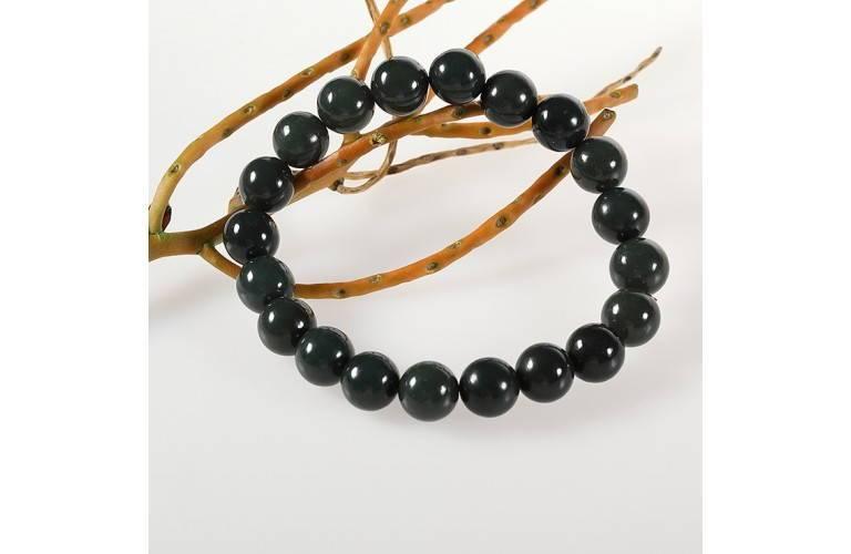 Un bracelet en perles de jade au style classique et certifié. f687271d7a92