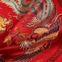 Housse de Coussin Chinois - Dragon et Phénix