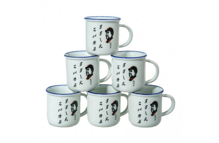 6 TASSES CHINOISES MAO