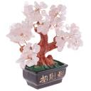 Arbre Traditionnel Feng Shui en Quartz Rose
