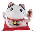 Tirelire chat japonais maneki neko fortune avant