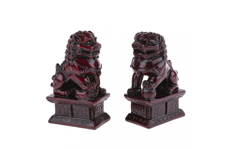 2 LIONS CHINOIS TRADITIONNELS
