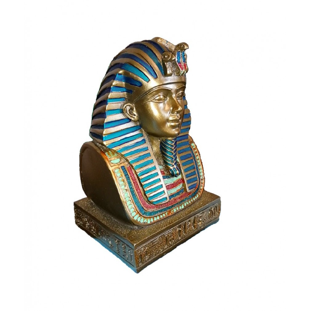 Buste de Toutankhamon avec Sculpture en Masque dor YUEXIN Figurine de Dieu /égyptien Statue R/ésine Statue D/écor /À La Maison Sculpture Artisanat