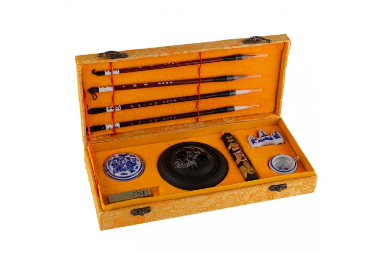 LUXUEUX SET CALLIGRAPHIE CHINOISE