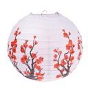 Lampion Boule Chinois - Décoration Fleurs de Prunier