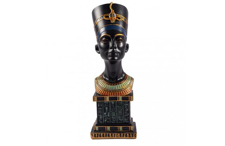 GRAND BUSTE REINE EGYPTIENNE NEFERTITI