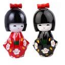 Duo Kokeshi Japonaises Rouge et Noire