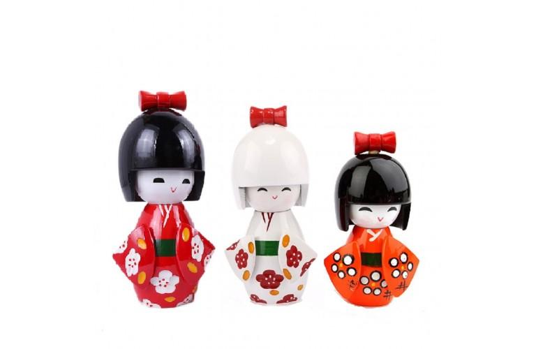 3 POUPEES KOKESHI JAPONAISE