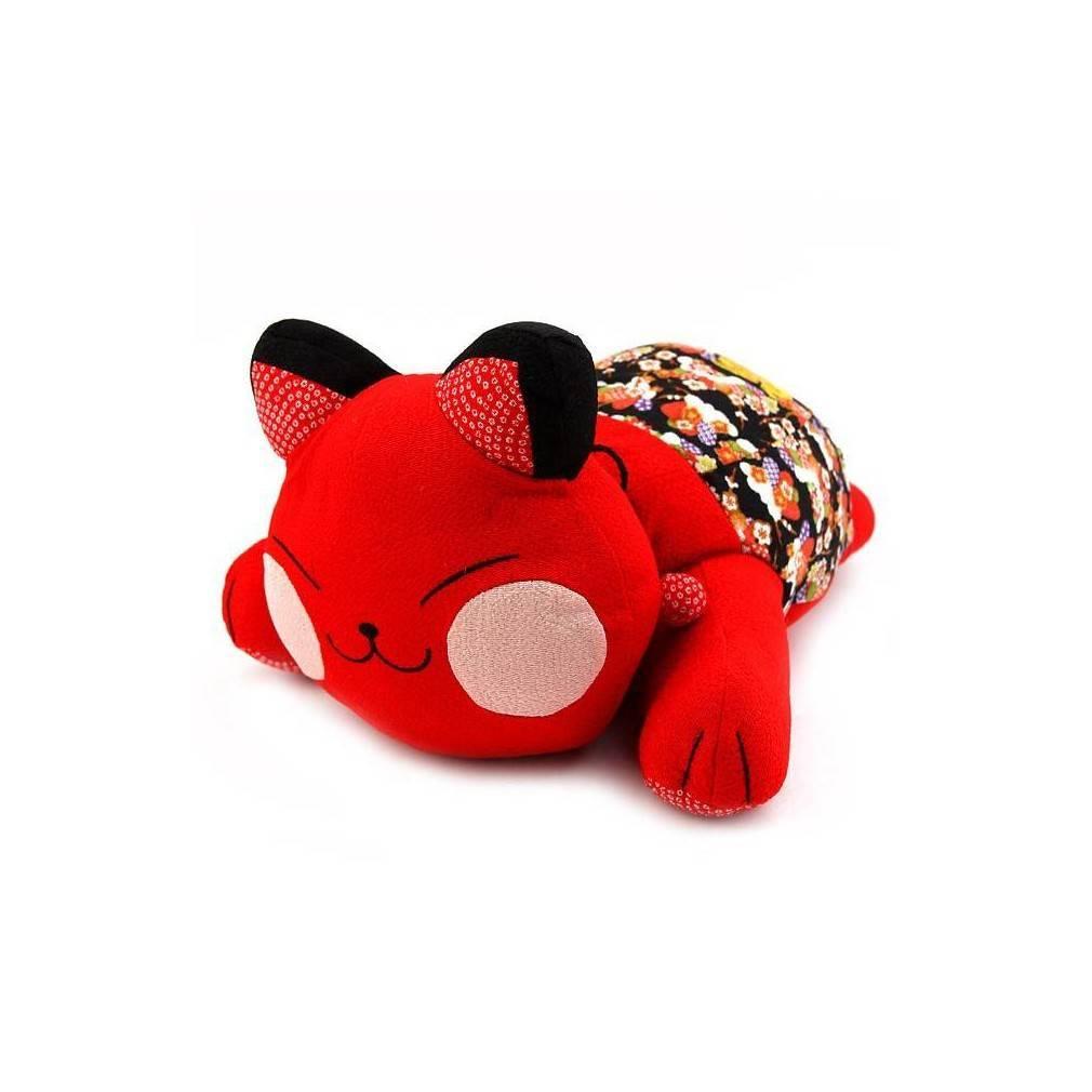 Chat kawai japonais rouge forme coussin de t te ebay - Differente forme de coussin ...