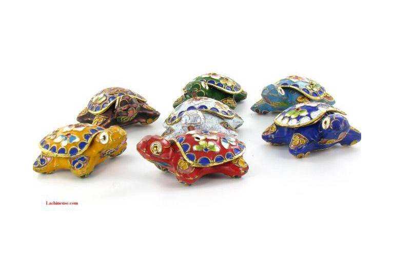 TORTUE EMAIL CLOISONNE