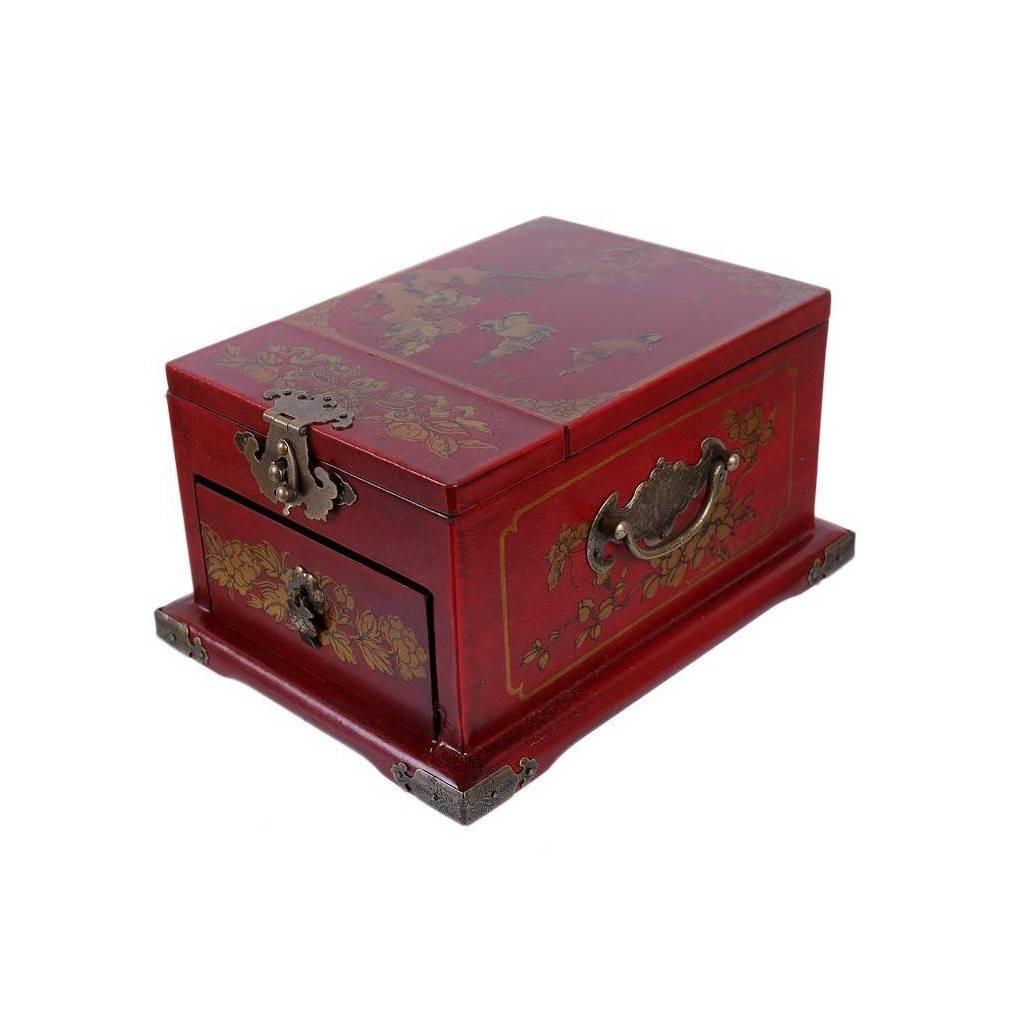 coffret bijoux chinois style ancien muni d 39 un miroir. Black Bedroom Furniture Sets. Home Design Ideas