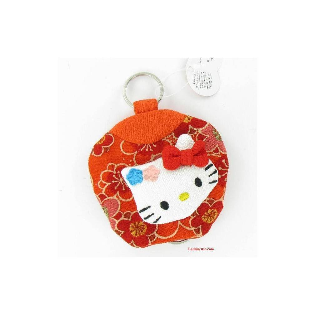 Porte cl s hello kitty en tissu design japonais - Armoire tissu hello kitty ...