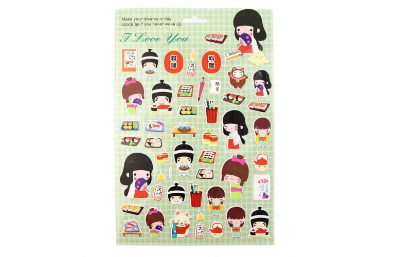 STICKERS DECORATION JAPONAISE