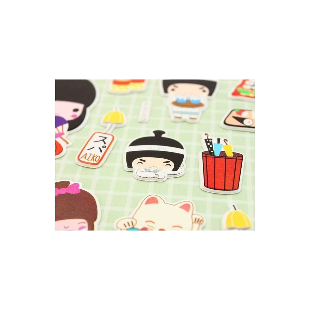 stickers decoration japonaise. Black Bedroom Furniture Sets. Home Design Ideas