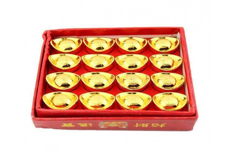 BOITE DE 16 PETITS LINGOTS YUAN BAO