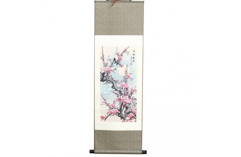 PEINTURE TRADITIONNELLE CHINOISE - Les Fleurs de Pruniers