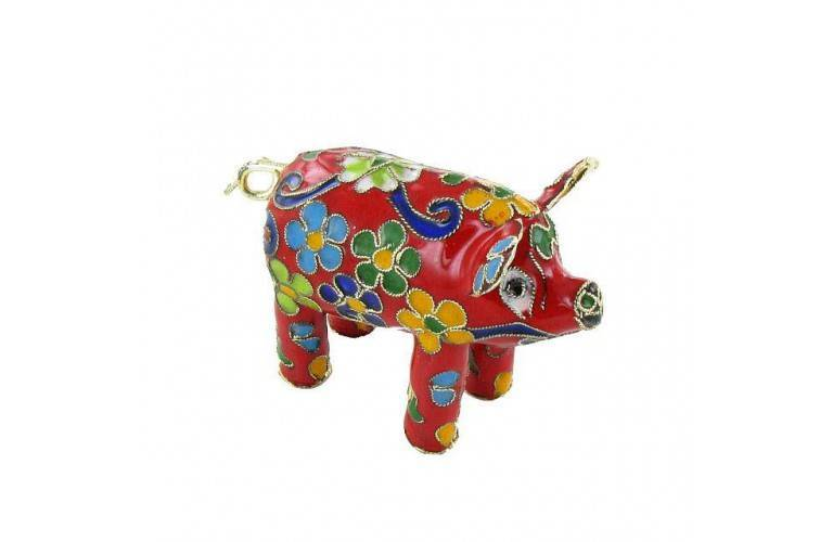 COCHON CHINOIS EMAIL CLOISONNE