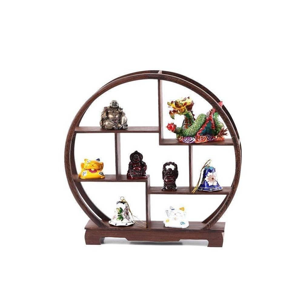 meuble chinois miniature se pr sentant sous la forme d 39 une tag re de rangement aux formes. Black Bedroom Furniture Sets. Home Design Ideas