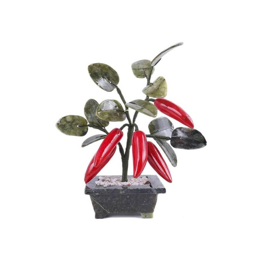arbre feng shui du traditionnel piment rouge symbole du bonheur. Black Bedroom Furniture Sets. Home Design Ideas