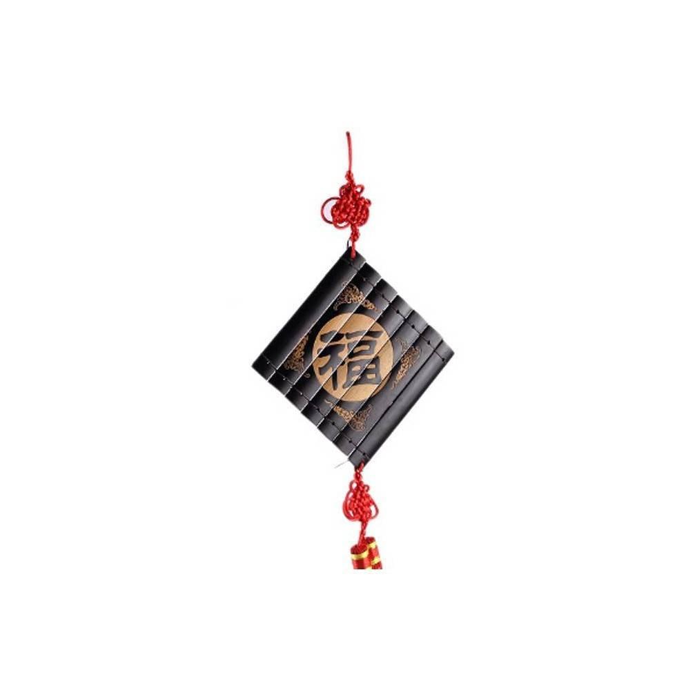 pendentif en bambou d cor de l 39 id ogramme bonheur pour ambiance zen. Black Bedroom Furniture Sets. Home Design Ideas