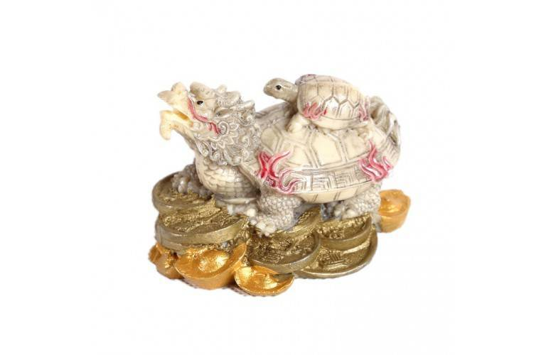 TORTUE DRAGON Style Ivoire