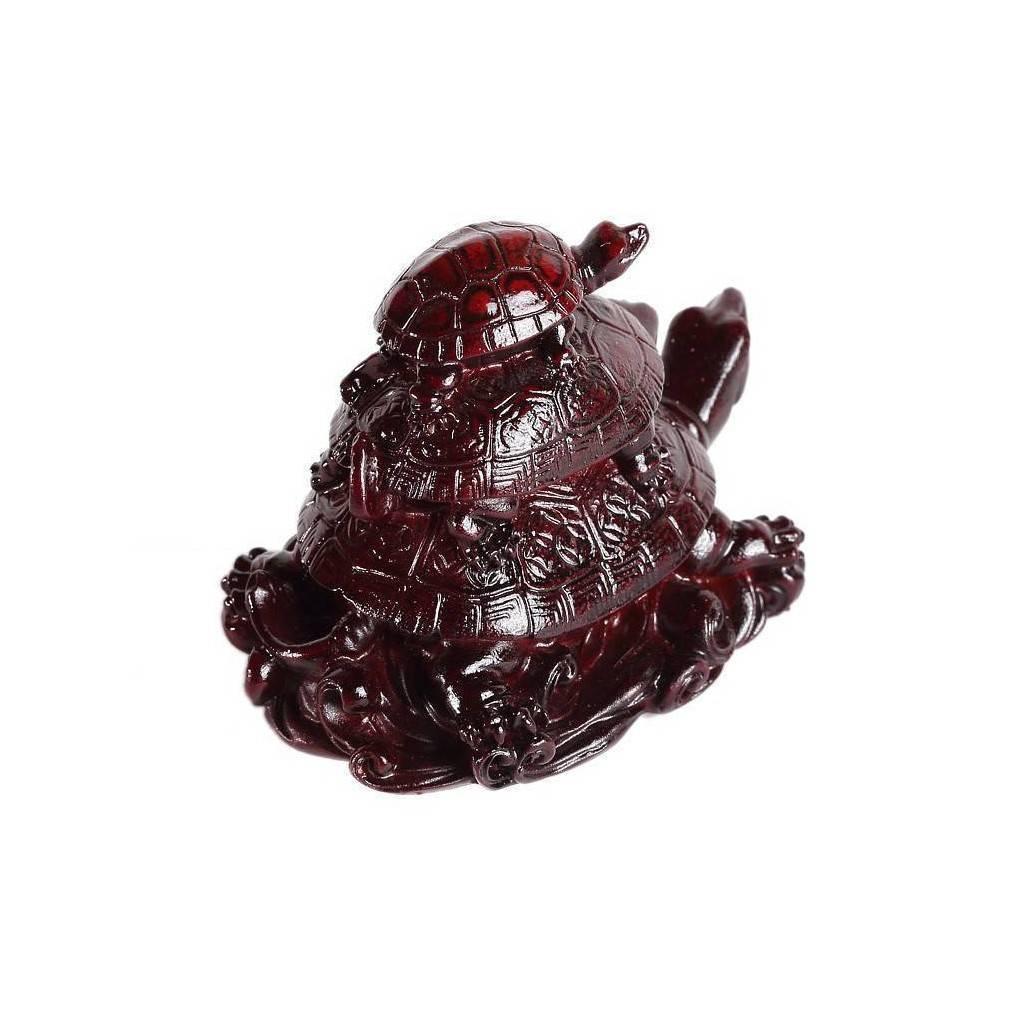 trois tortues feng shui symbole de protection de long vit de richesse. Black Bedroom Furniture Sets. Home Design Ideas