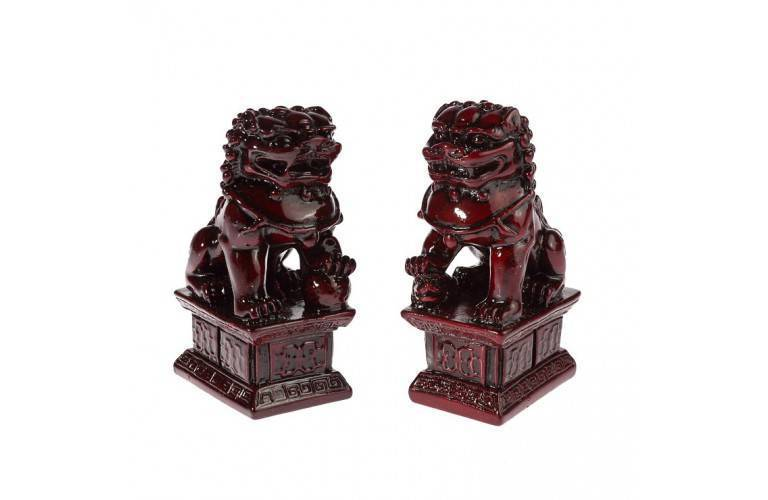 2 LIONS CHINOIS TRADITIONNEL