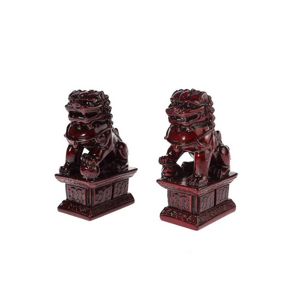 paire de lions chinois traditionnels feng shui gardiens imp riaux. Black Bedroom Furniture Sets. Home Design Ideas