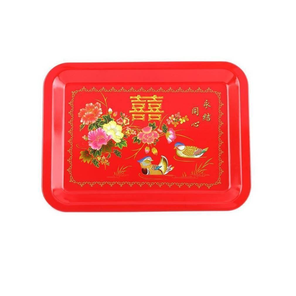plateau de service chinois motif amour et bonheur ebay. Black Bedroom Furniture Sets. Home Design Ideas