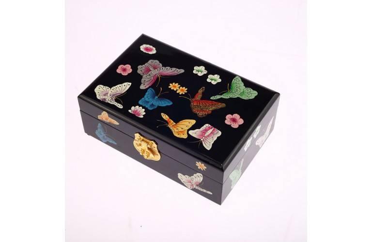 COFFRET A BIJOUX ASIATIQUE Papillons