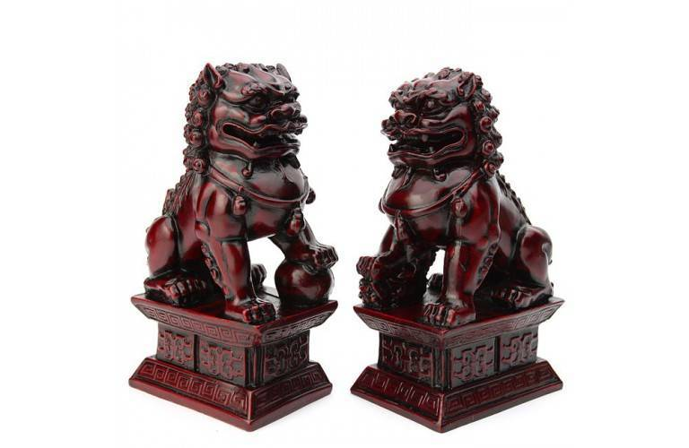 LIONS GARDIENS FENG SHUI - Grande Taille