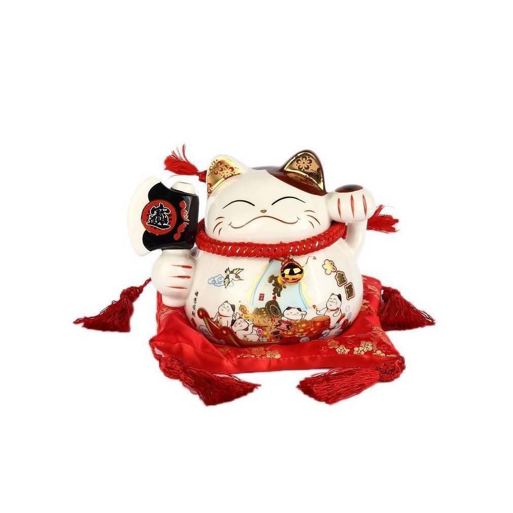 chat maneki neko japonais porte bonheur pour une ambiance nippone. Black Bedroom Furniture Sets. Home Design Ideas