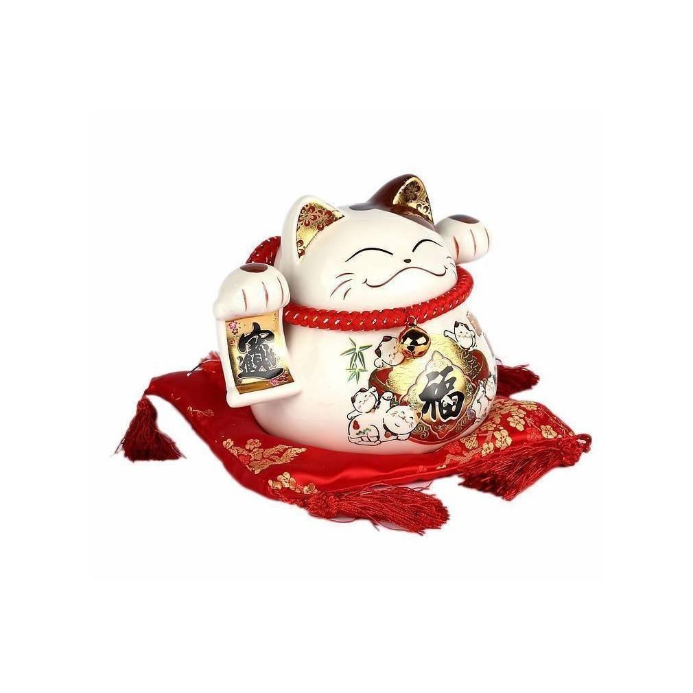tirelire maneki neko ou chat qui invite symbole traditionnel japonais. Black Bedroom Furniture Sets. Home Design Ideas
