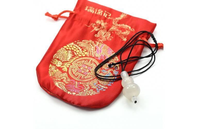 COLLIER FENG SHUI GOURDE WU LOU