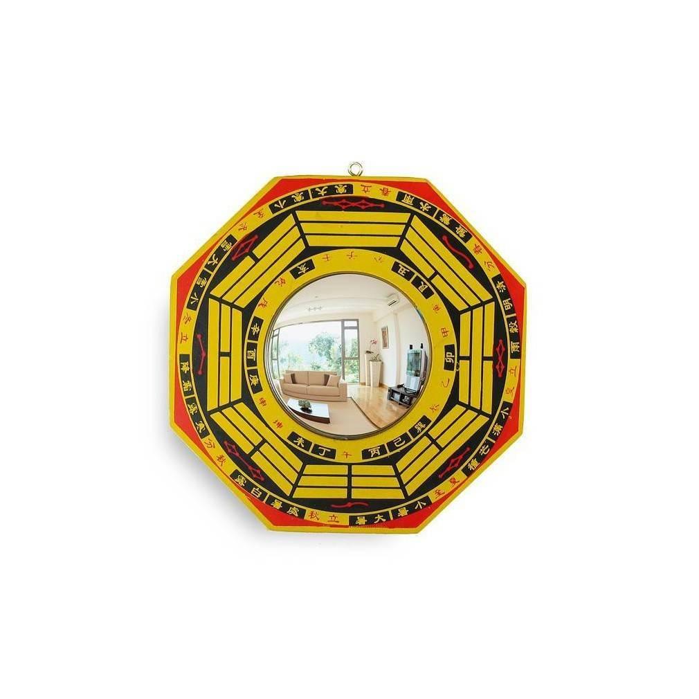 miroir pa kua ou ba gua d coratif du feng shui traditionnel. Black Bedroom Furniture Sets. Home Design Ideas
