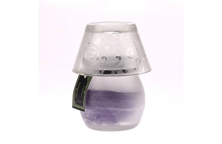 BOUGIE LAMPE DECORATIVE VIOLETTE
