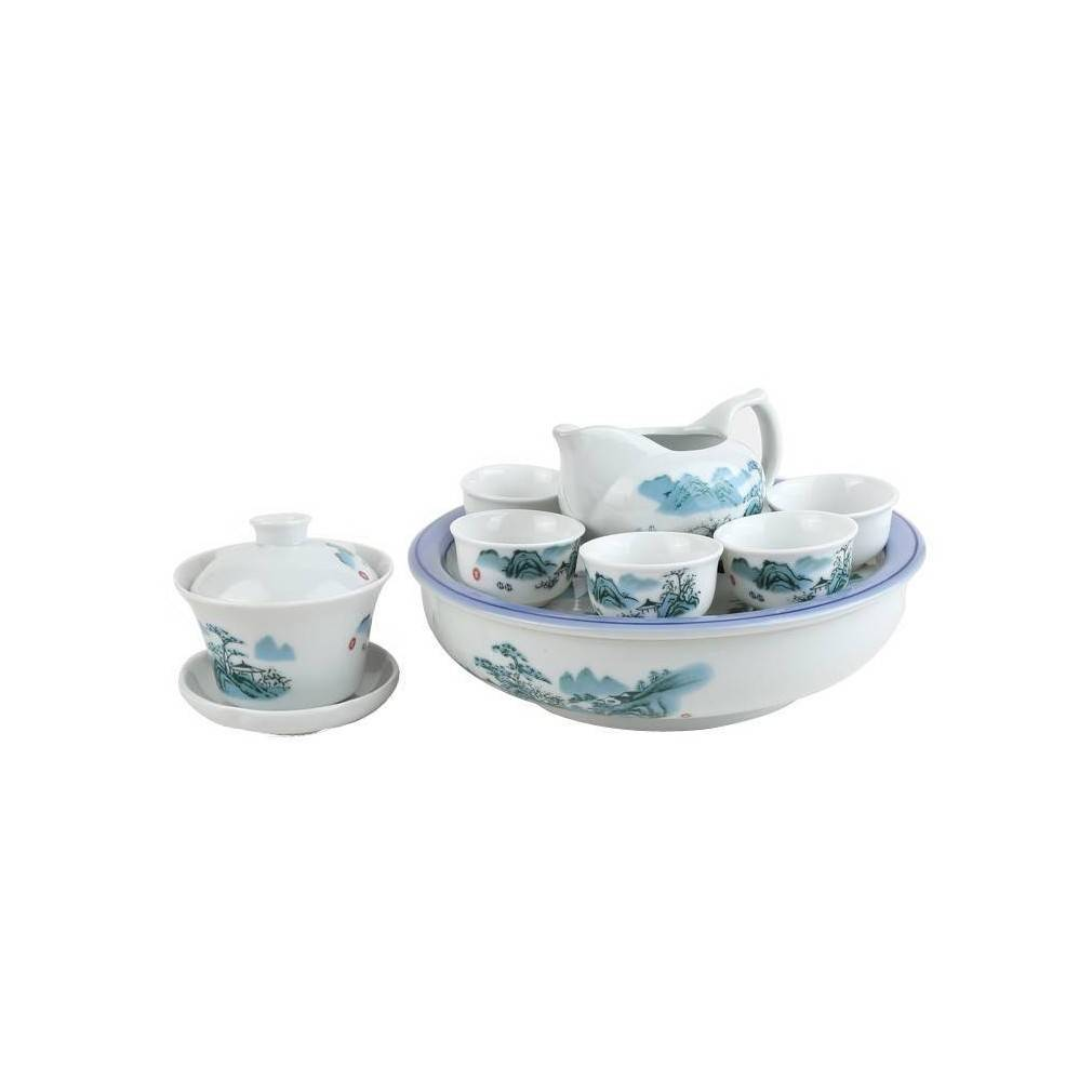 service th chinois en porcelaine pour la tradition du zhong. Black Bedroom Furniture Sets. Home Design Ideas