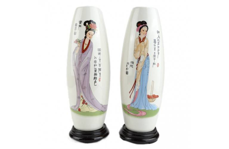 2 VASES Princesses Chinoises