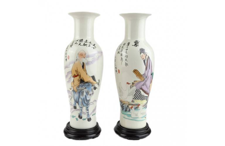 2 VASES CHINOIS TRADITIONNELS