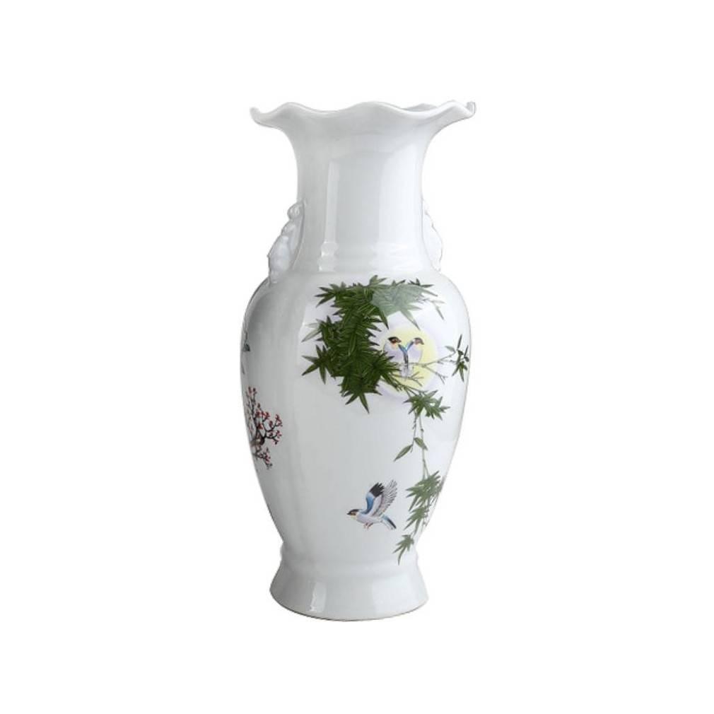 vase de decoration ... Vase de Décoration Asiatique - Symboles de Prospérité