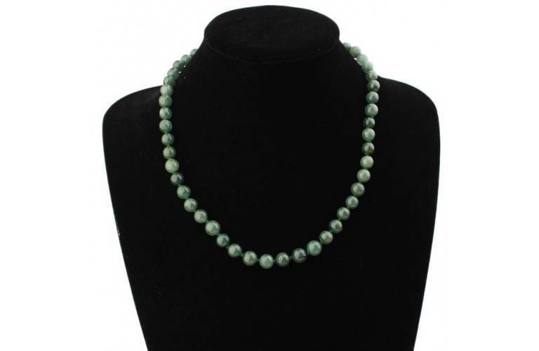 COLLIER CLASSIQUE 50 Perles de Jade
