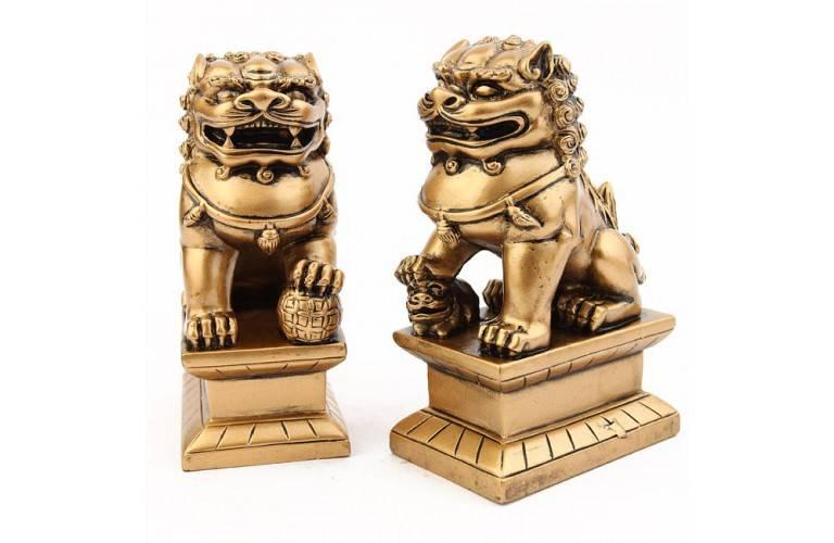 PAIRE CHIENS FU (OU LIONS CHINOIS)